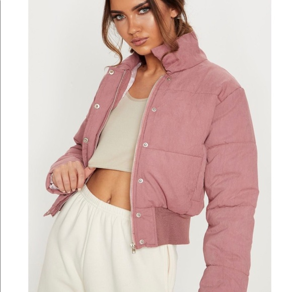 Pretty Little Thing pink puffer jacket NWT